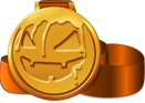 Scared Stiff pumpkin medal