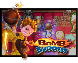Bomb Buddies logo and screenshot