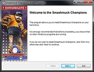 Install screen for Smashmuck Champions downloadable game